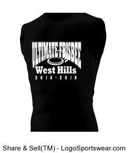 Sleeveless Compression Shirt Design Zoom